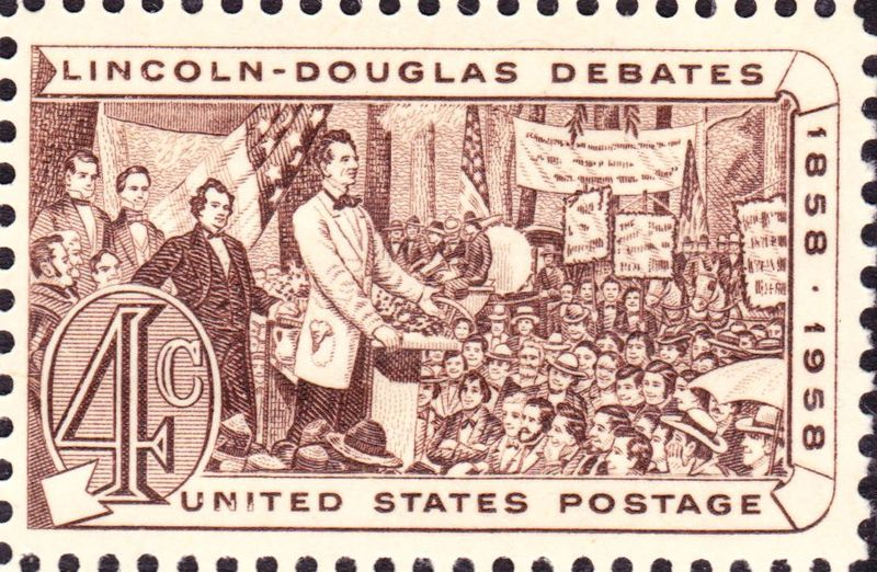 800px-Lincoln_Douglas_debates_of_1858_1958_Issue-4c
