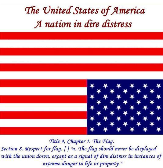 USAUpsideDownFlagANationinDistress